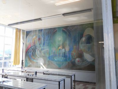 Peintures de la salle de chimie